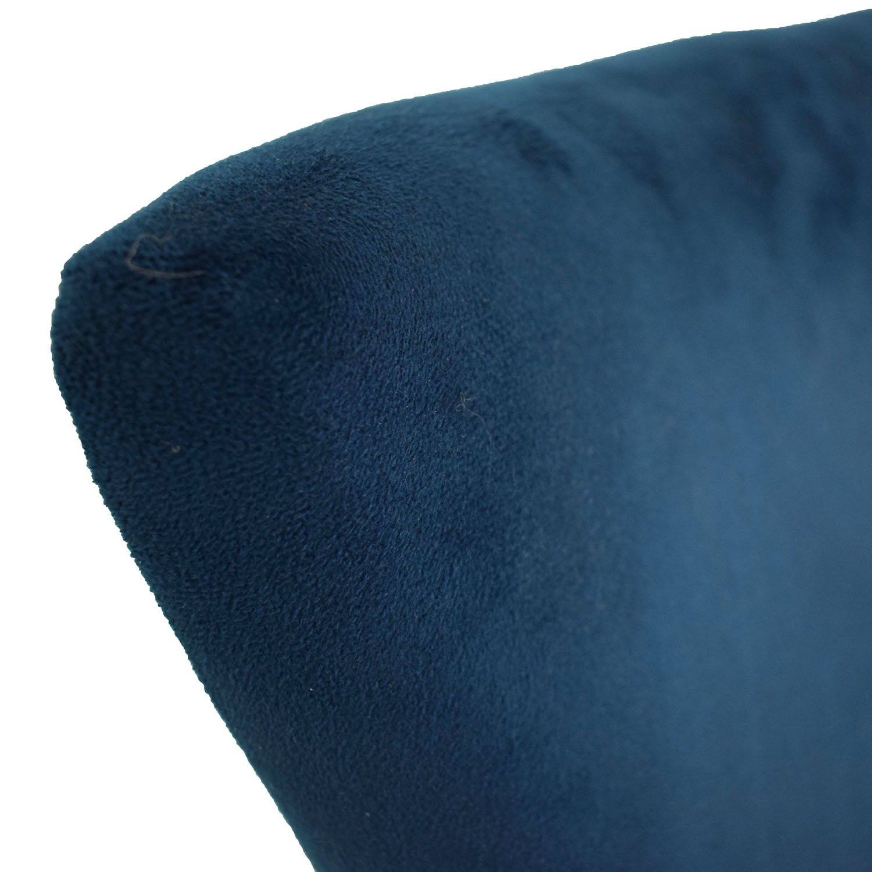 shop Safavieh Blue Nailhead Velvet Accent Chair Safavieh Accent Chairs