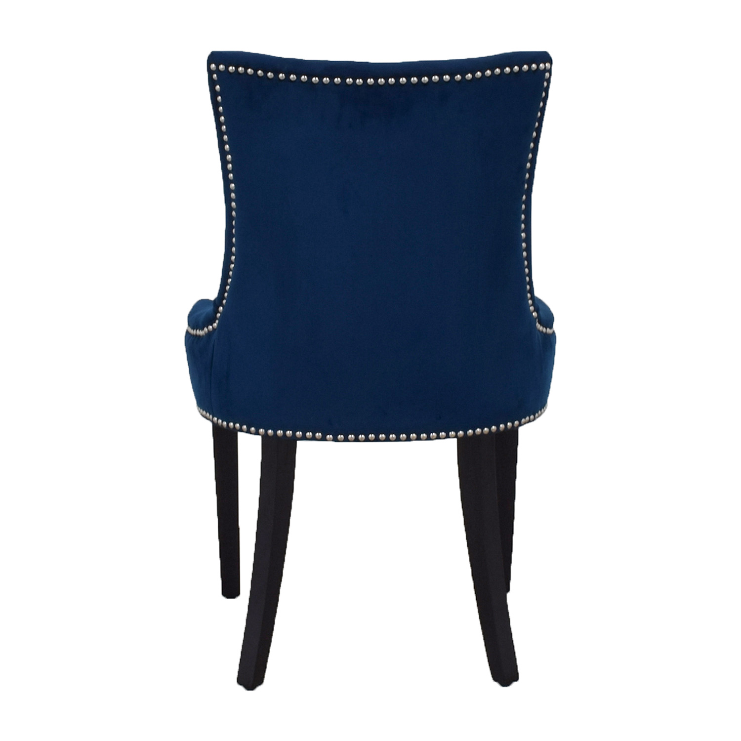 Safavieh Safavieh Blue Nailhead Velvet Accent Chair second hand