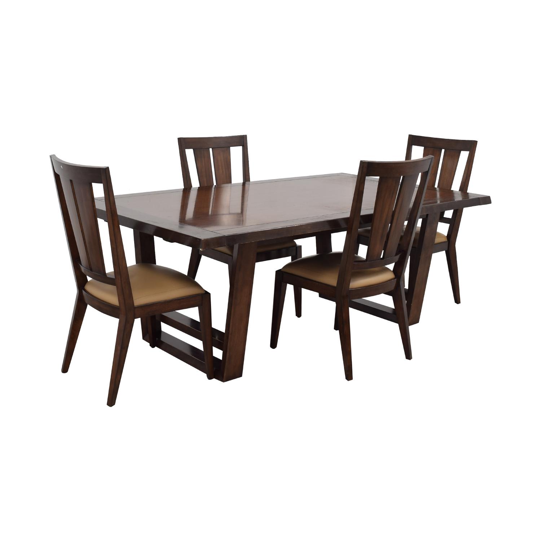 90% OFF   Bernhardt Bernhardt Wood Dining Set / Tables