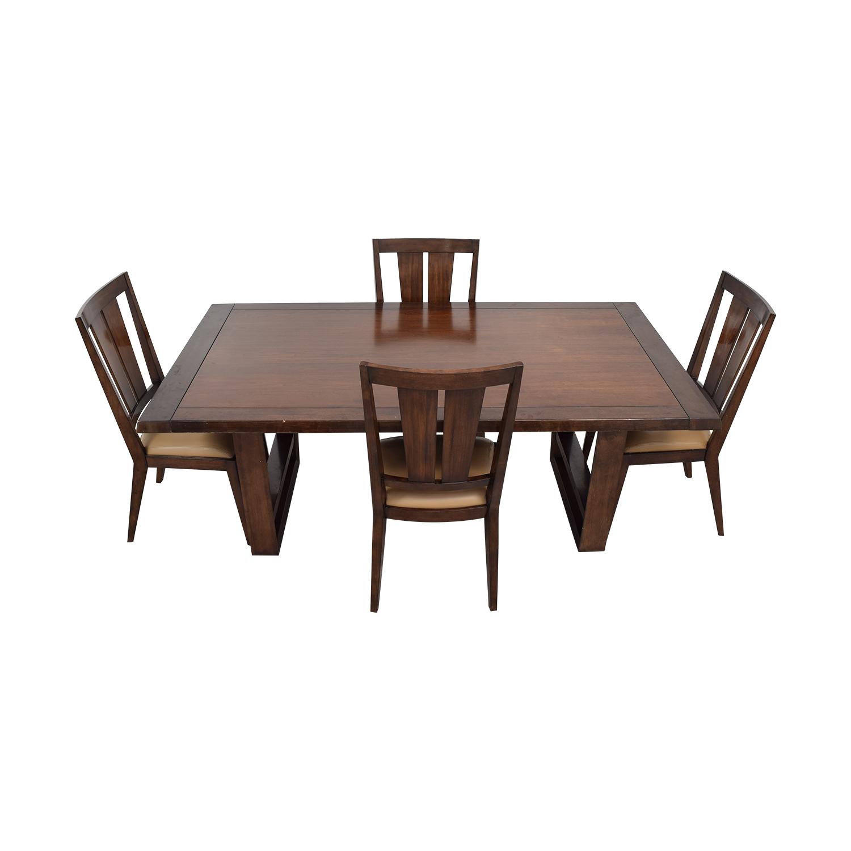 90 Off Bernhardt Wood Dining Set Tables