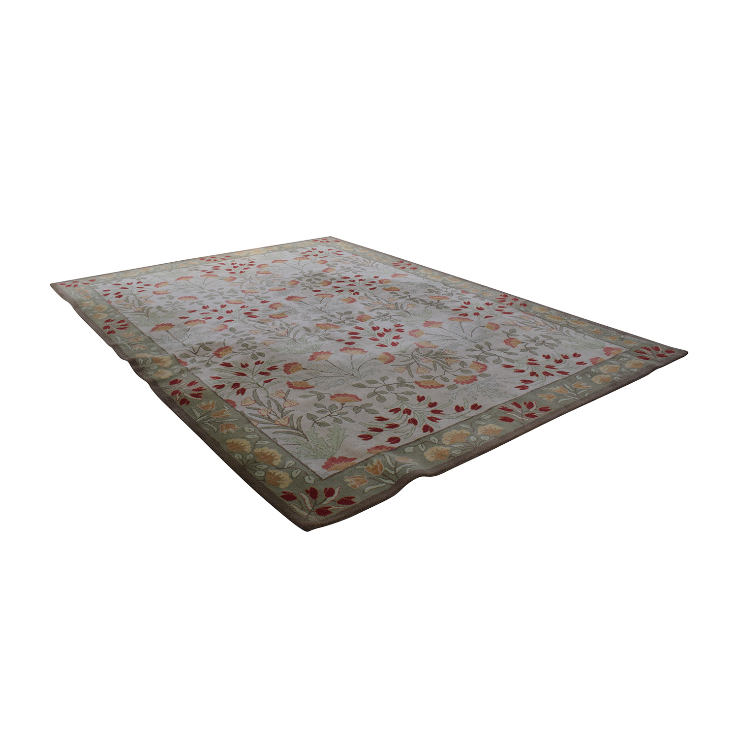 shop Pottery Barn Pottery Barn Floral Rug with Pad online