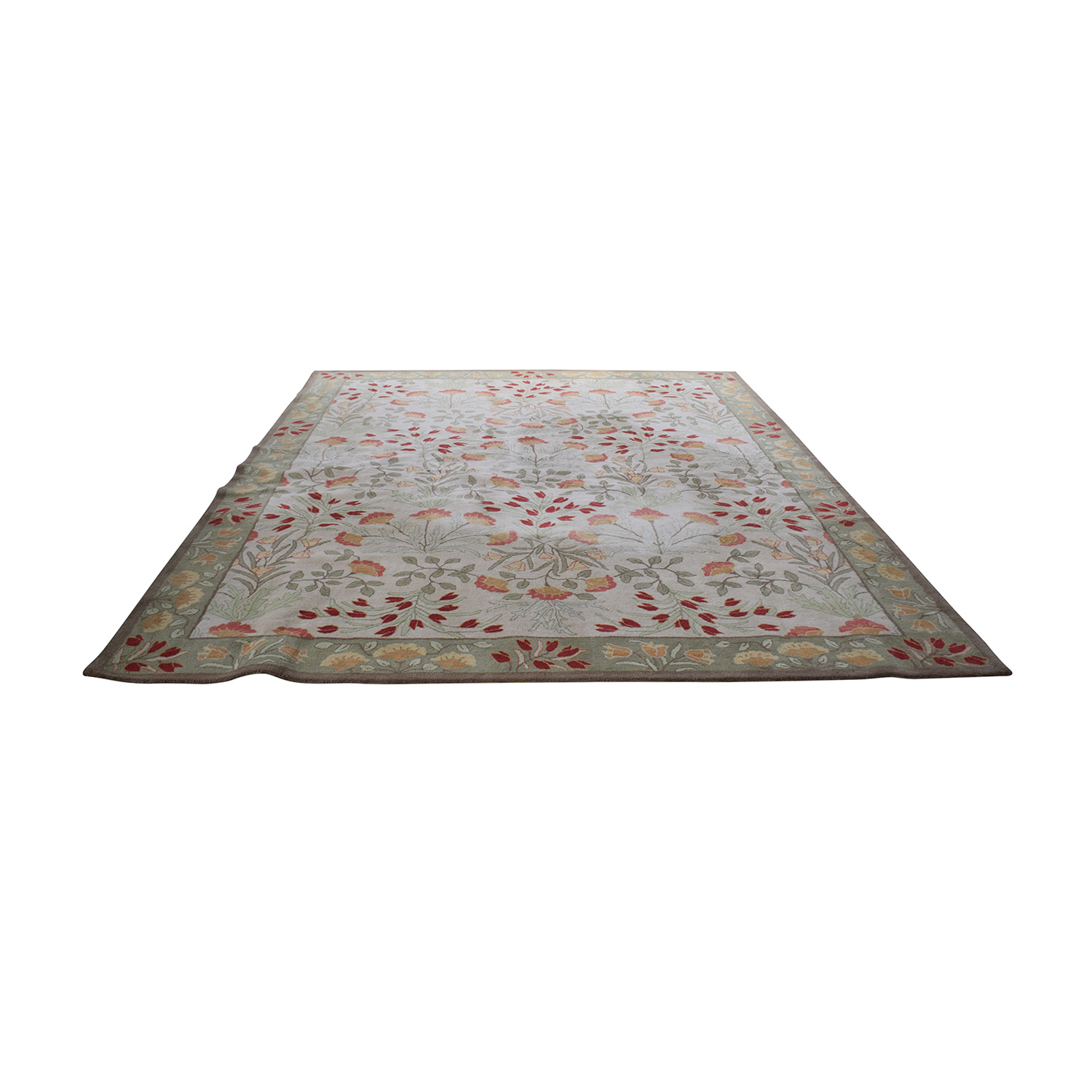 shop Pottery Barn Floral Rug with Pad Pottery Barn