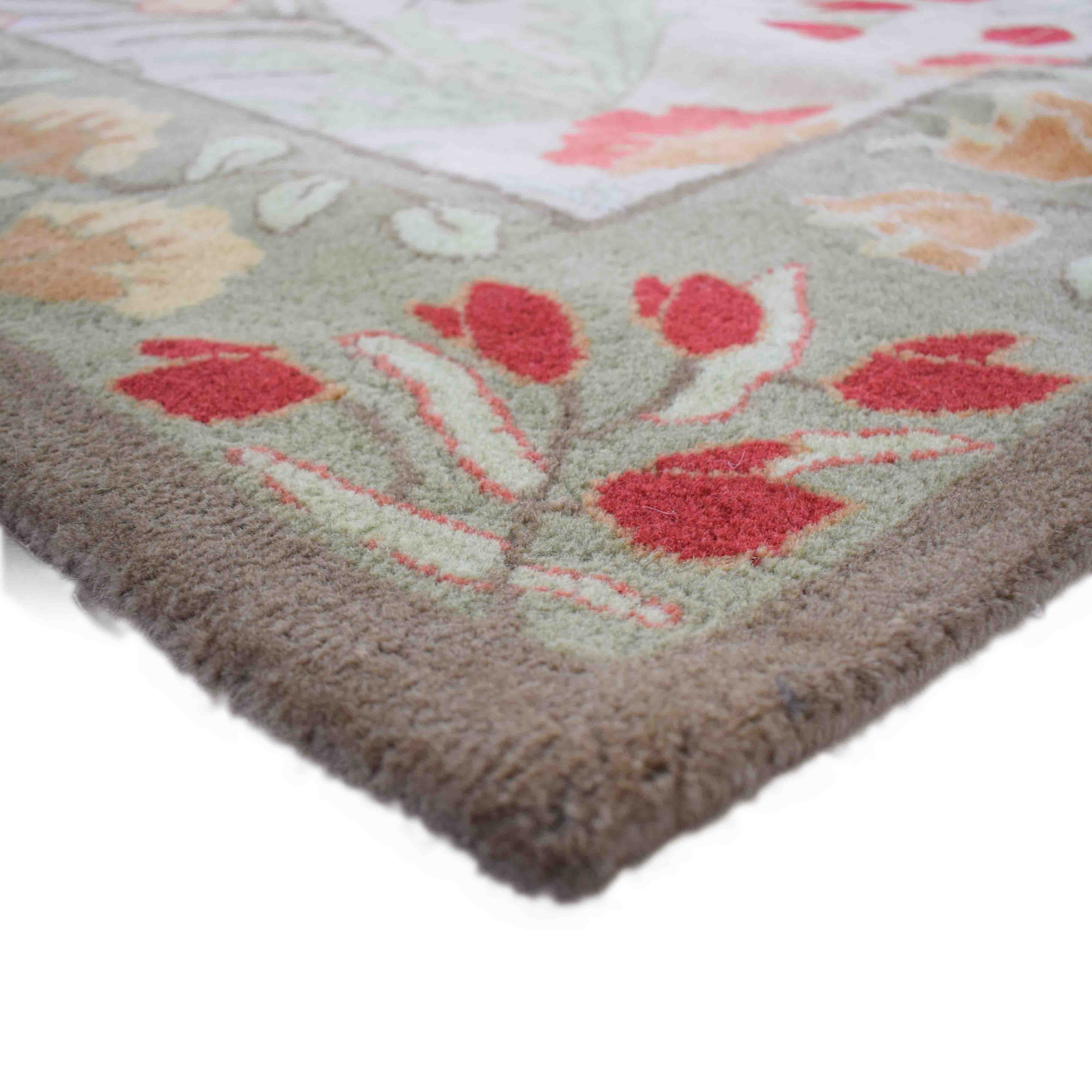 Pottery Barn Floral Rug with Pad sale