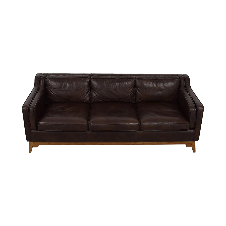 shop Article Worthington Oxford Brown Three-Cushion Sofa Article