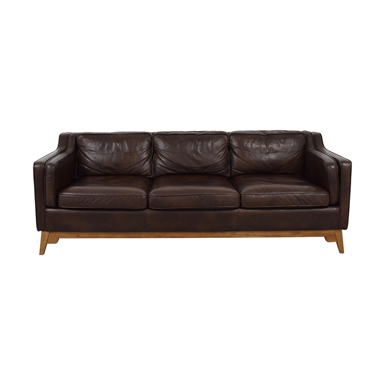 Article Article Worthington Oxford Brown Three-Cushion Sofa discount