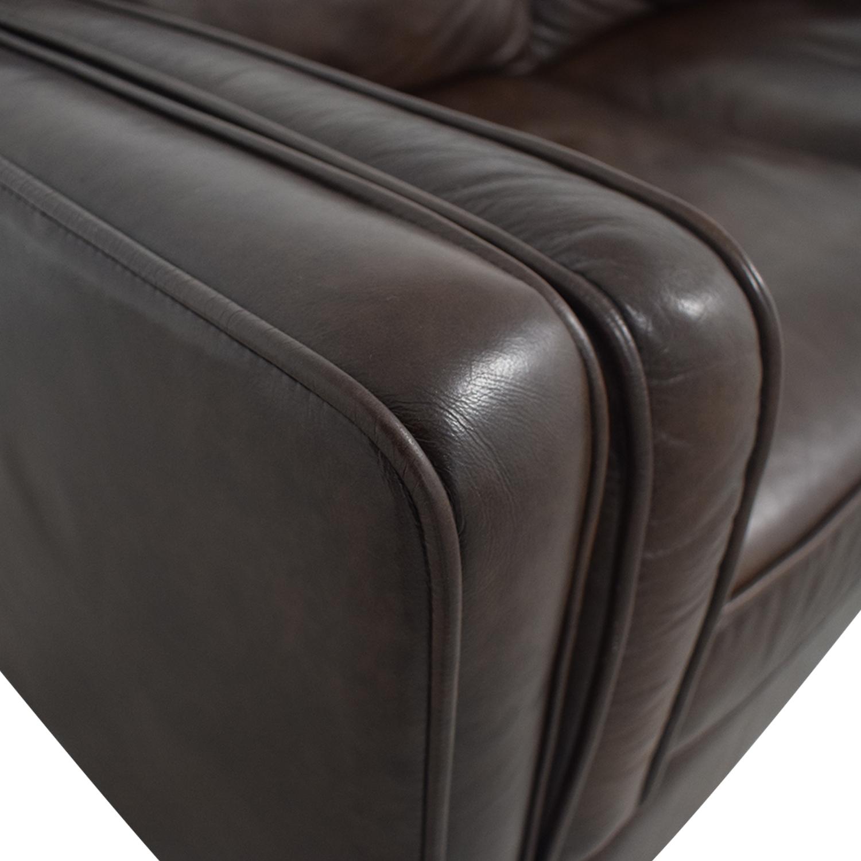 shop Article Worthington Oxford Brown Three-Cushion Sofa Article Classic Sofas