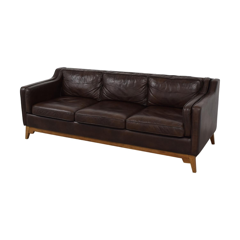 shop Article Article Worthington Oxford Brown Three-Cushion Sofa online