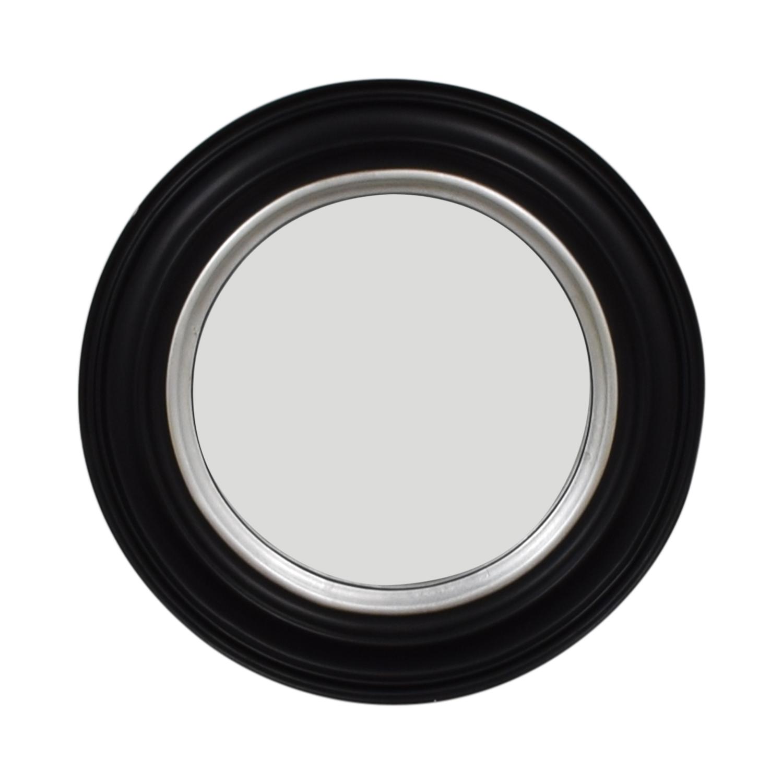 shop Ballard Design Bullseye Round Black Wall Mirror Ballard Design Mirrors