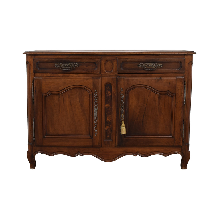 Antique French Country Walnut Dovetailed Buffet second hand