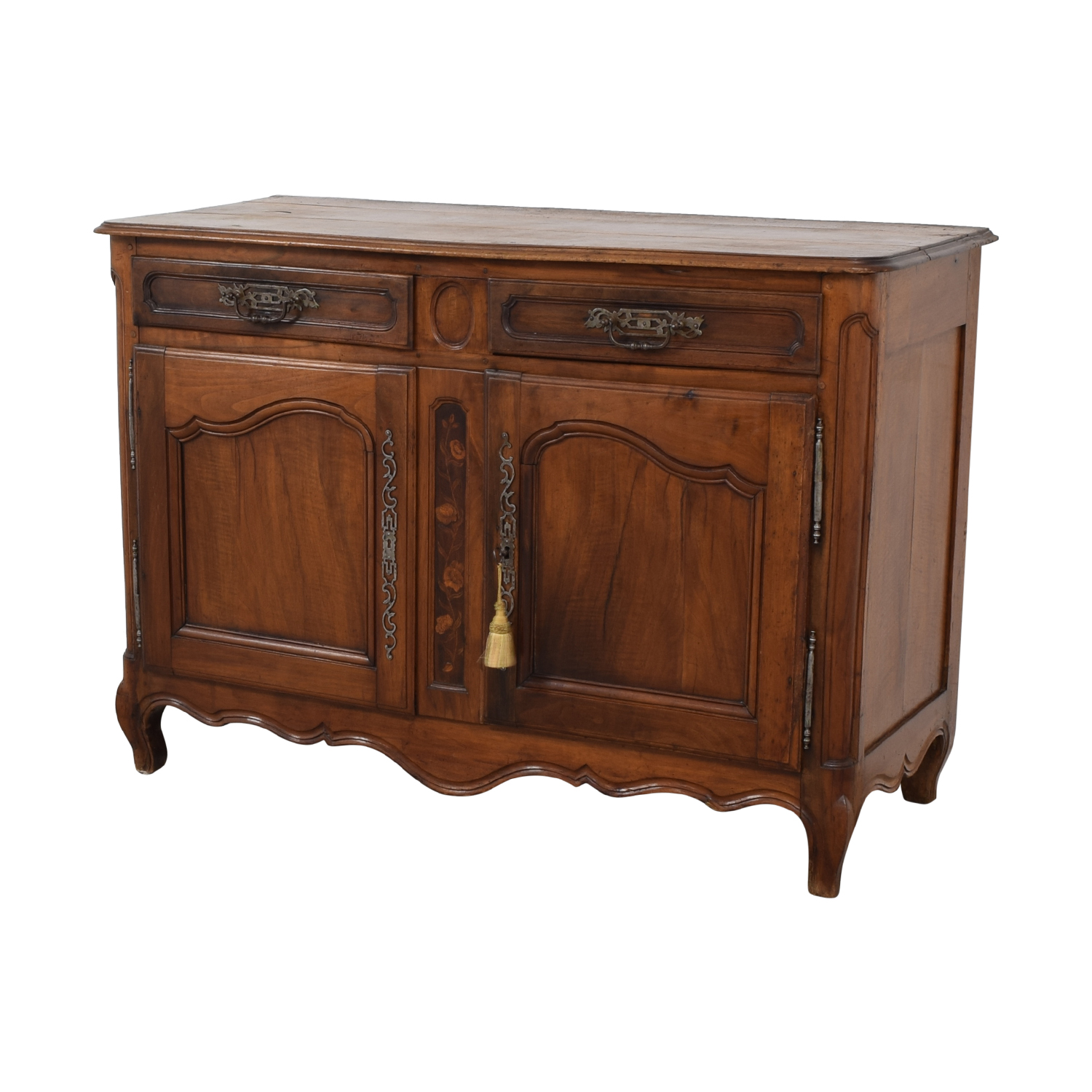 90 Off Antique French Country Walnut Dovetailed Buffet Storage