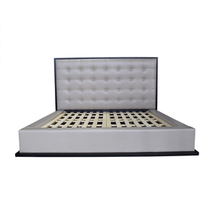 Modloft Ludlow Grey Tufted Platform King Bedframe / Beds