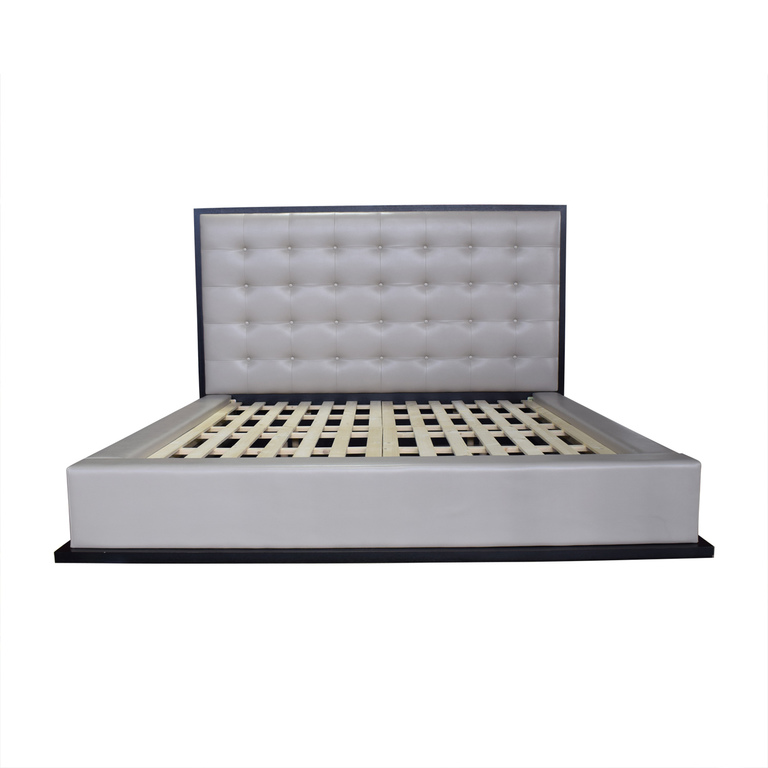 Modloft Ludlow Grey Tufted Platform King Bedframe sale