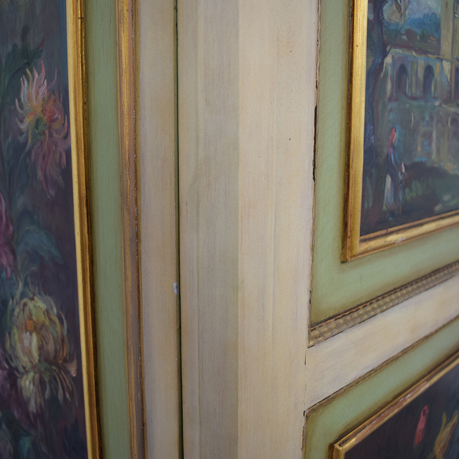 ABC Carpet & Home ABC Carpet & Home Floral Painted Armoire used