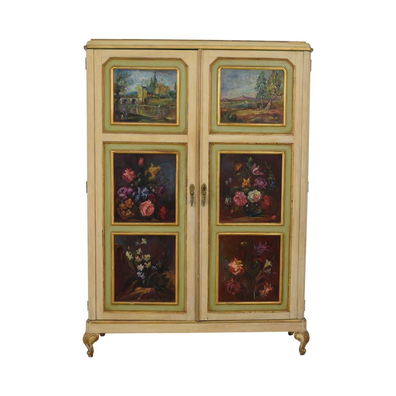 shop ABC Carpet & Home Floral Painted Armoire ABC Carpet & Home Wardrobes & Armoires