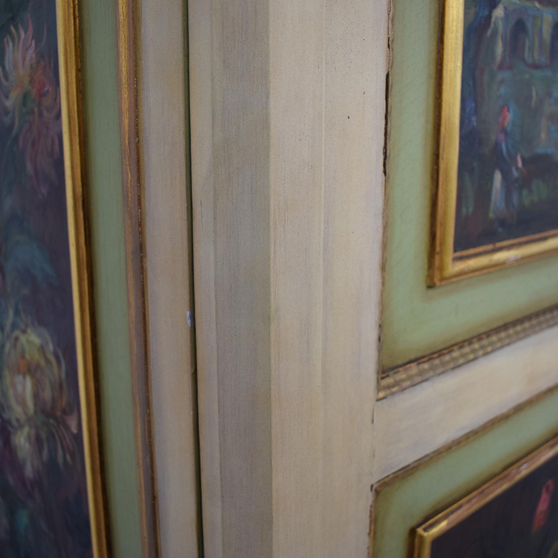 ABC Carpet & Home ABC Carpet & Home Floral Painted Armoire price