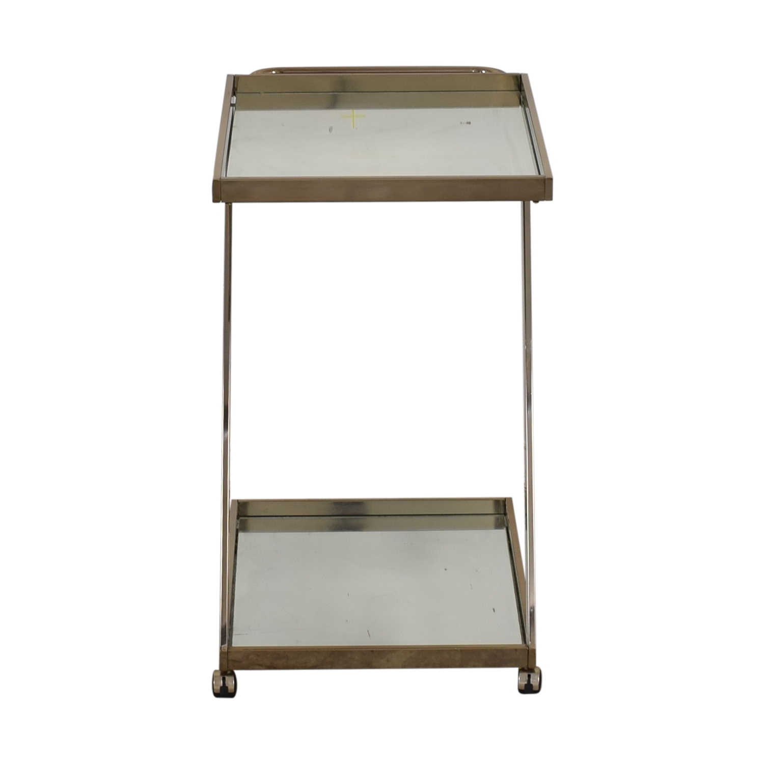 West Elm West Elm Bar Cart Glass / Chrome