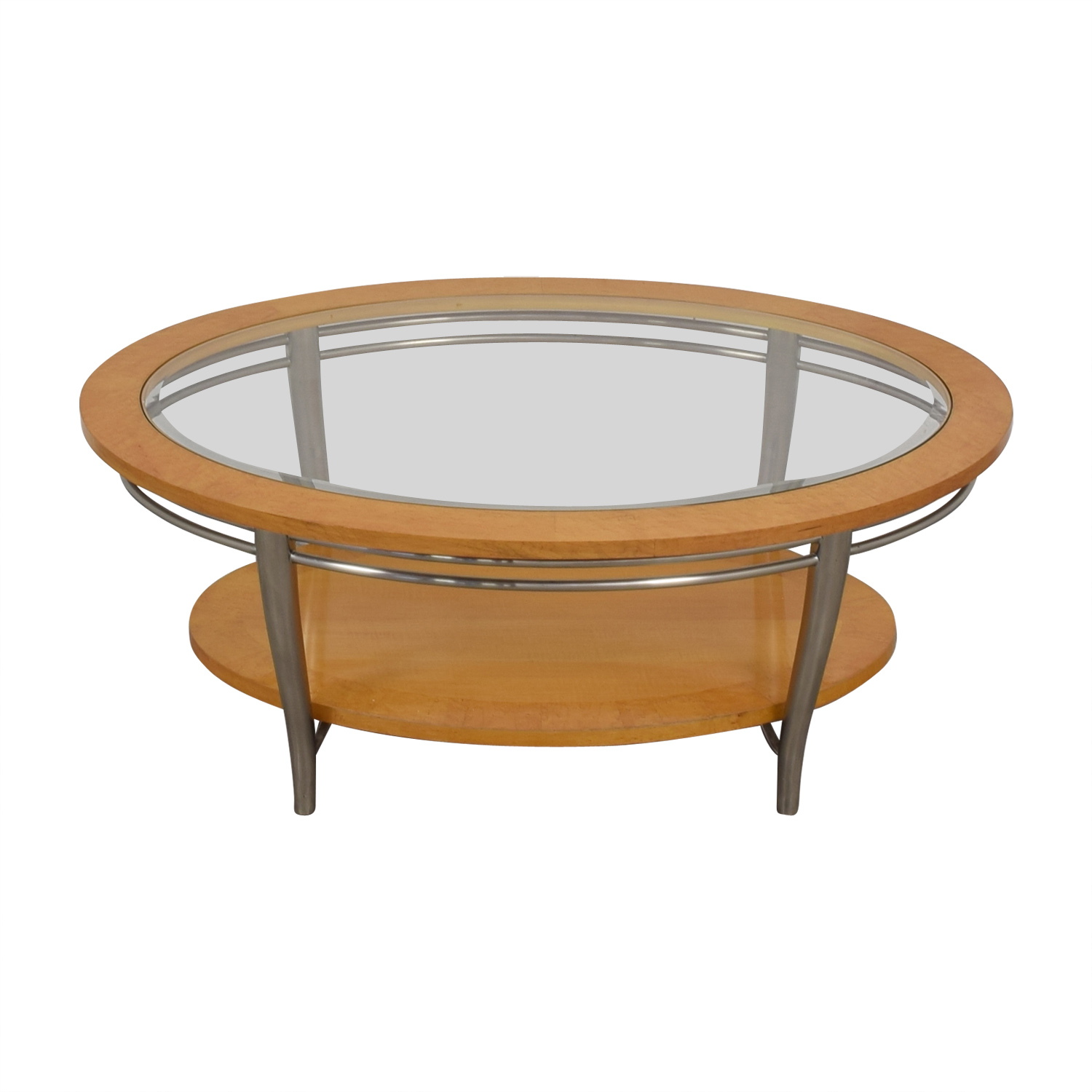 Bernhardt Bernhardt Wooden Oval Coffee Table coupon