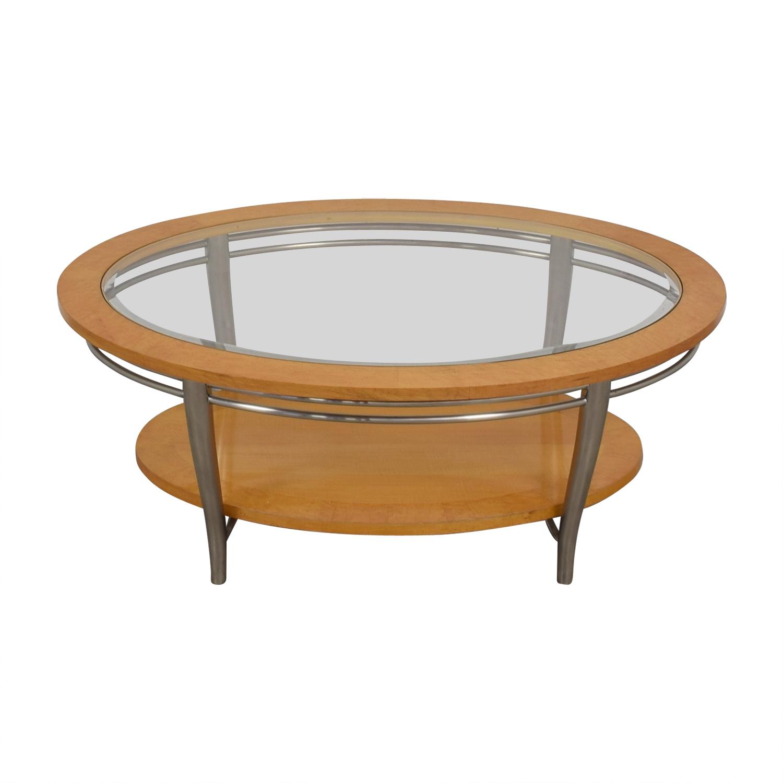 Fine 82 Off Bernhardt Bernhardt Wooden Oval Coffee Table Tables Theyellowbook Wood Chair Design Ideas Theyellowbookinfo