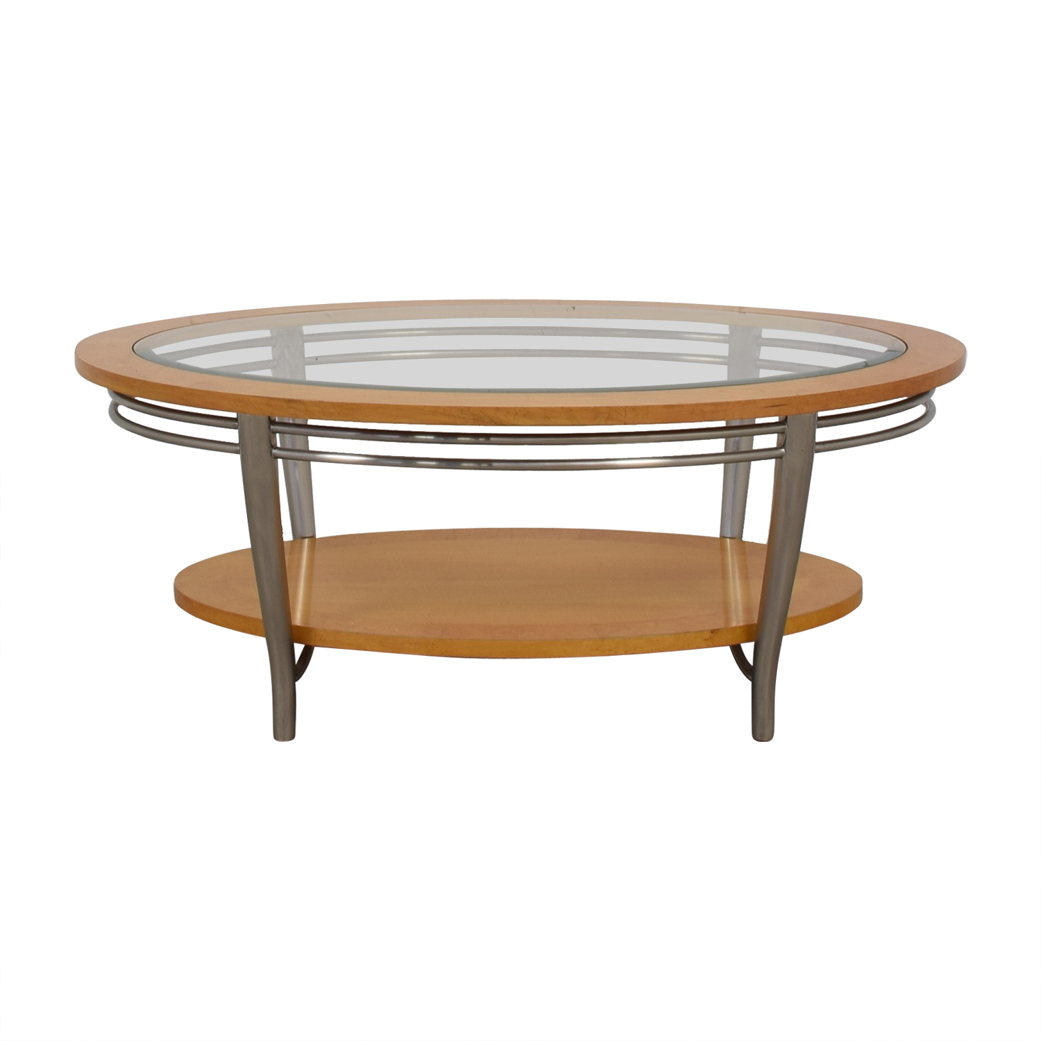 Bernhardt Bernhardt Wooden Oval Coffee Table