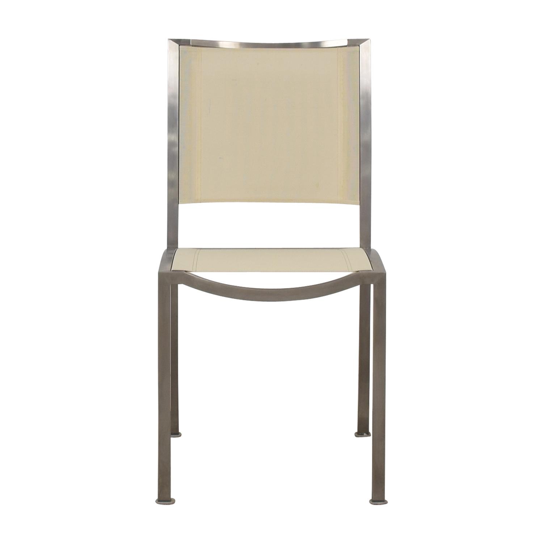 West Elm Cream and Chrome Chair sale