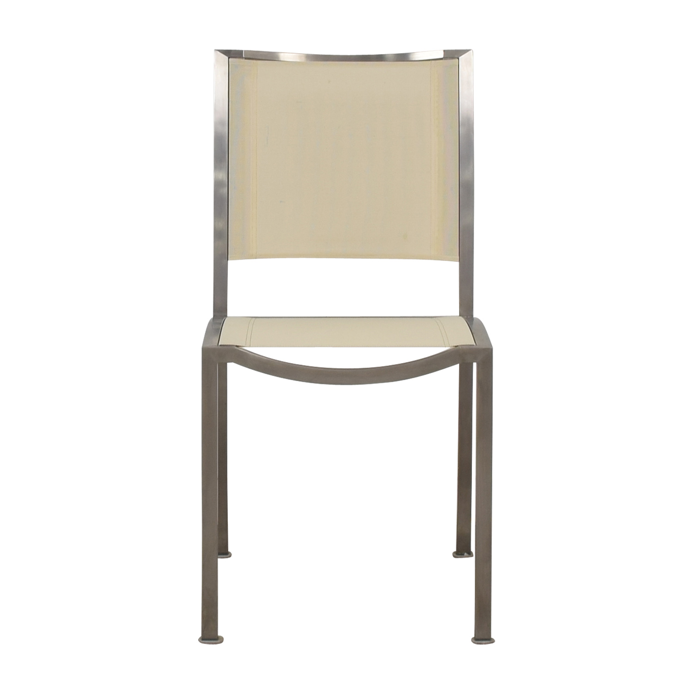 shop West Elm Cream and Chrome Chair West Elm