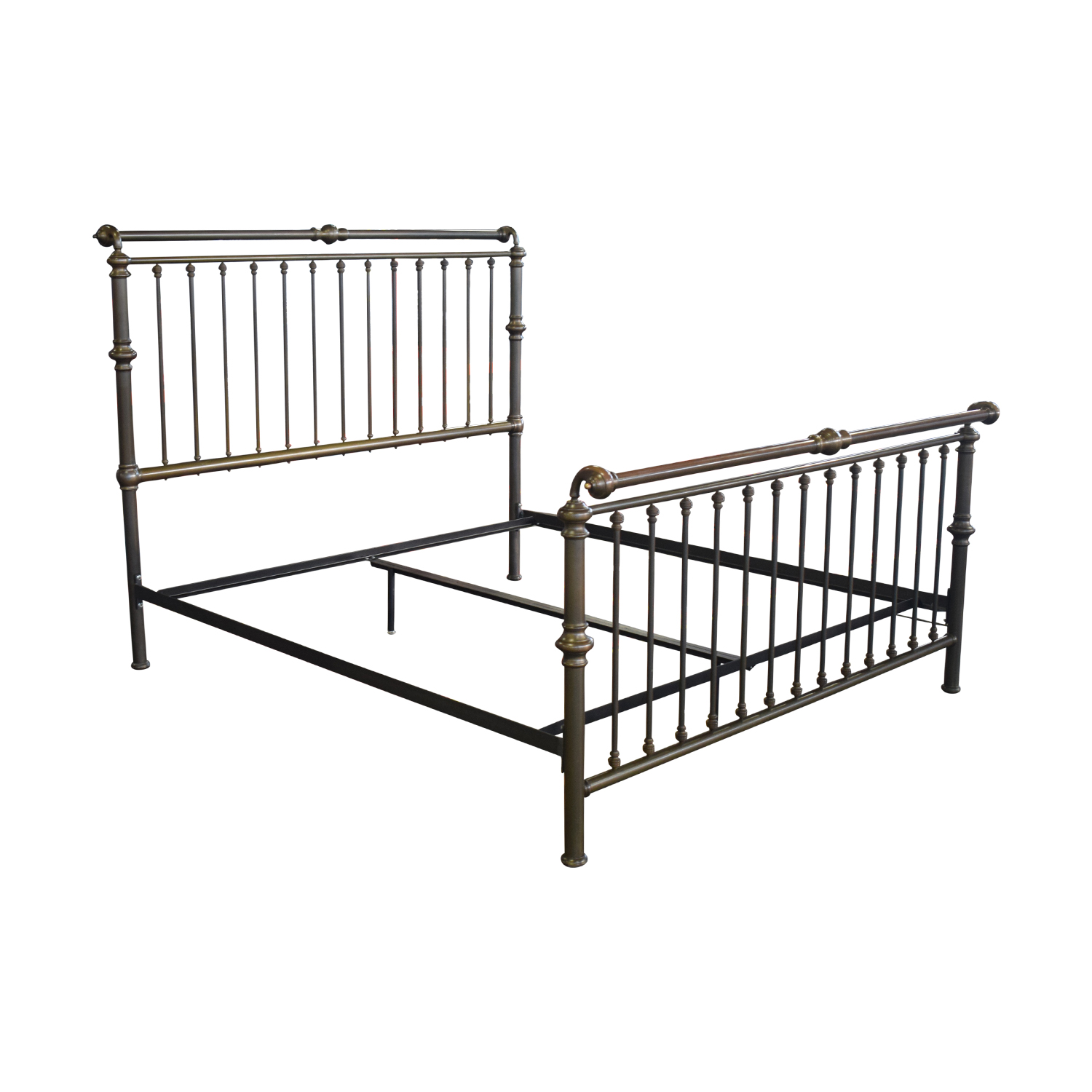Charles P. Rogers Brass Sleigh King Bed Frame / Bed Frames