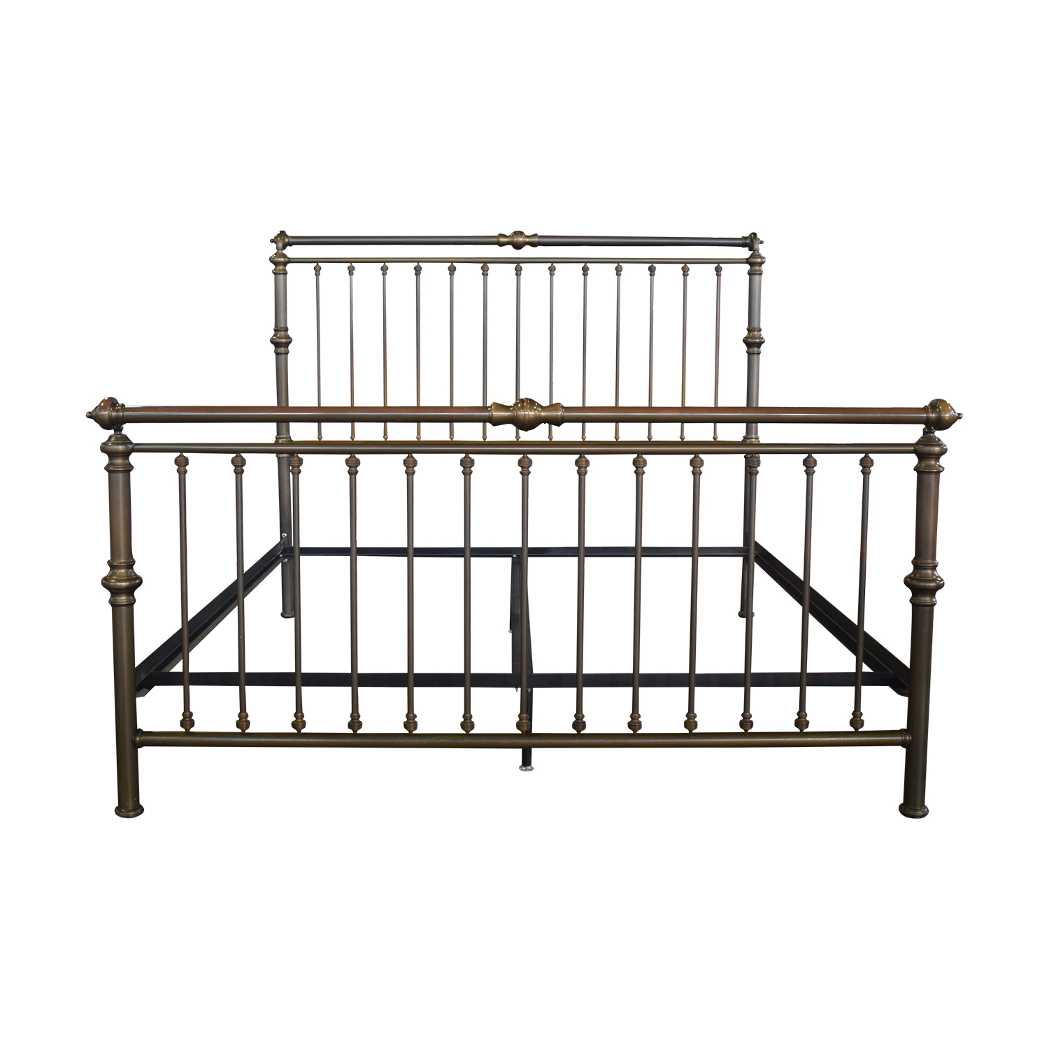 Charles P. Rogers Brass Sleigh King Bed Frame sale