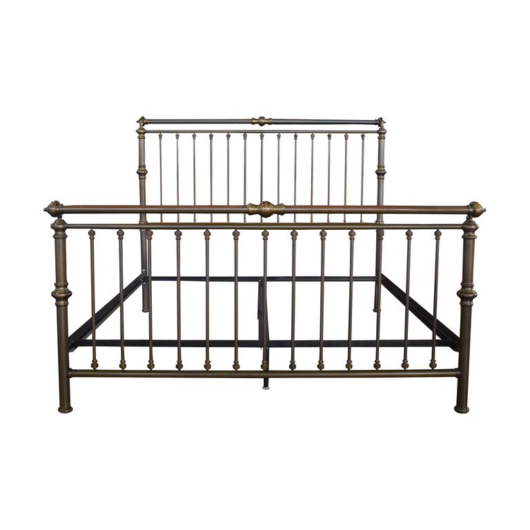 Charles P. Rogers Charles P. Rogers Brass Sleigh King Bed Frame nj