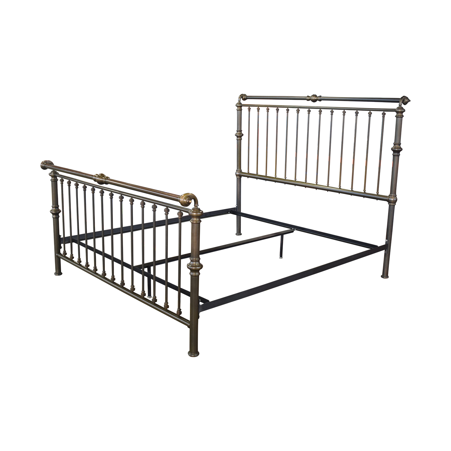 shop Charles P. Rogers Charles P. Rogers Brass Sleigh King Bed Frame online