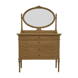 ABC Carpet & Home ABC Carpet & Home Antique Four-Drawer Dresser with Mirror dimensions