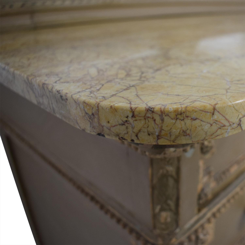 shop ABC Carpet & Home Antique Four-Drawer Dresser with Mirror ABC Carpet & Home Dressers