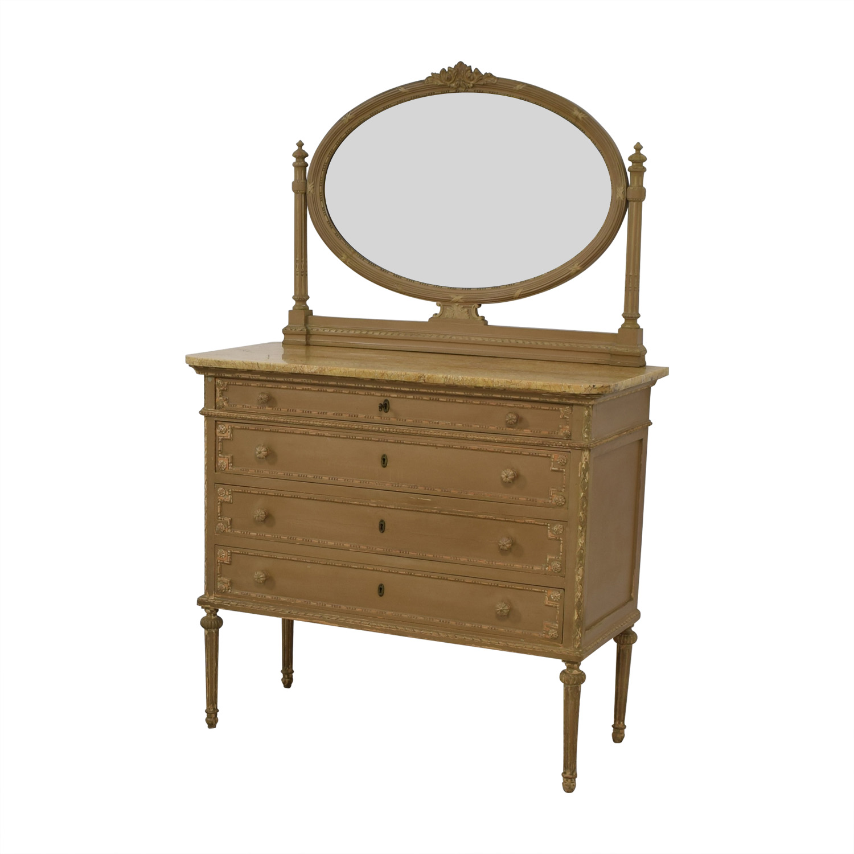 ABC Carpet & Home ABC Carpet & Home Antique Four-Drawer Dresser with Mirror Dressers