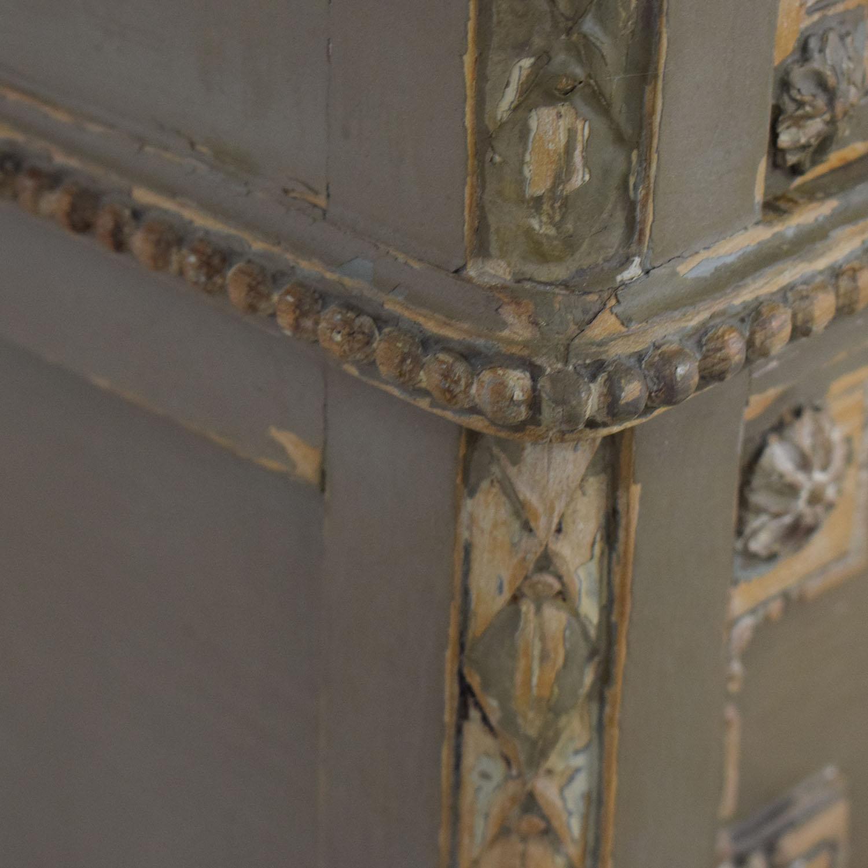 ABC Carpet & Home ABC Carpet & Home Antique Four-Drawer Dresser with Mirror Storage