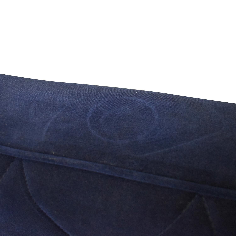 Overstock.com Overstock.com Bowery Navy Velvet Sofa on sale