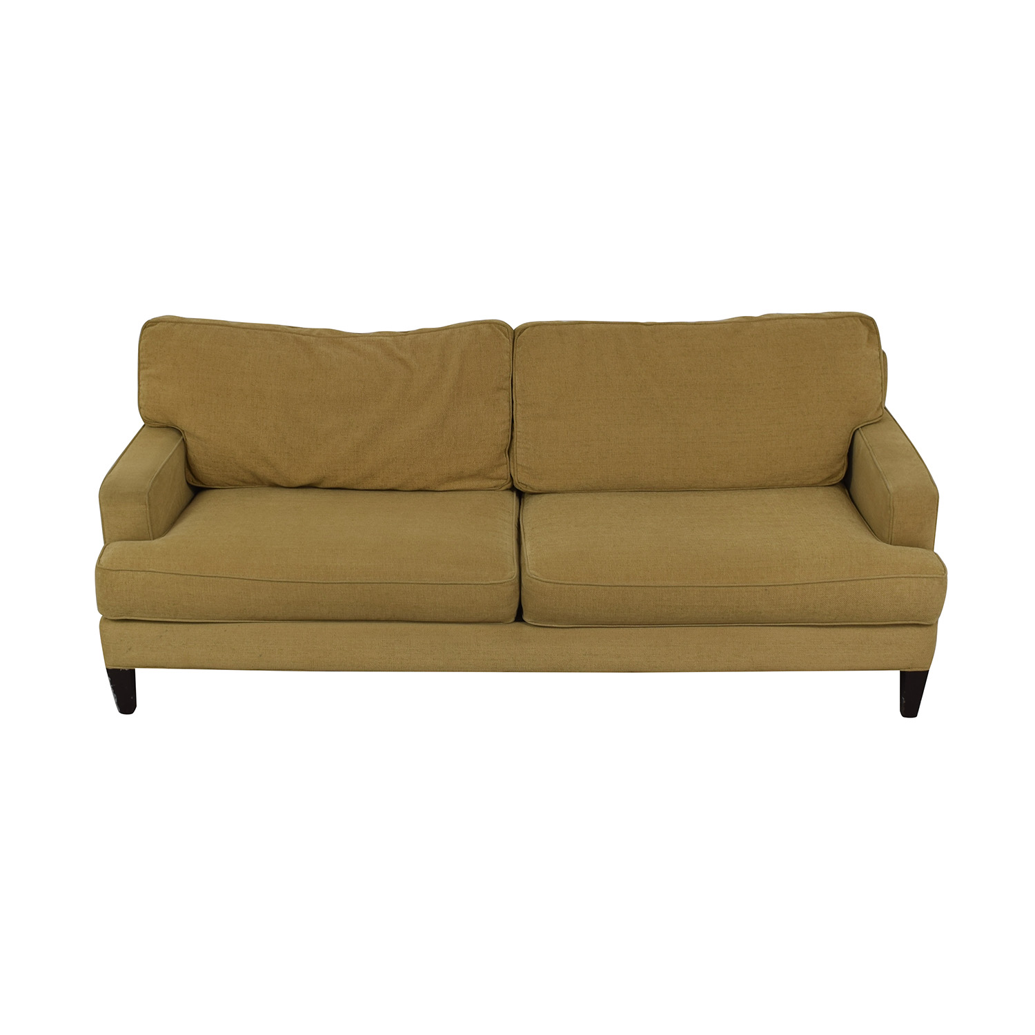 buy Pottery Barn Tan Two-Cushion Couch Pottery Barn Sofas