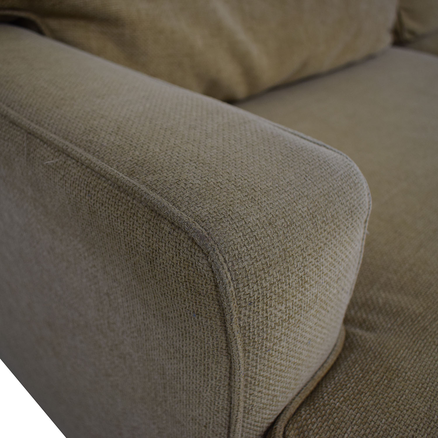 shop Pottery Barn Tan Two-Cushion Couch Pottery Barn Classic Sofas