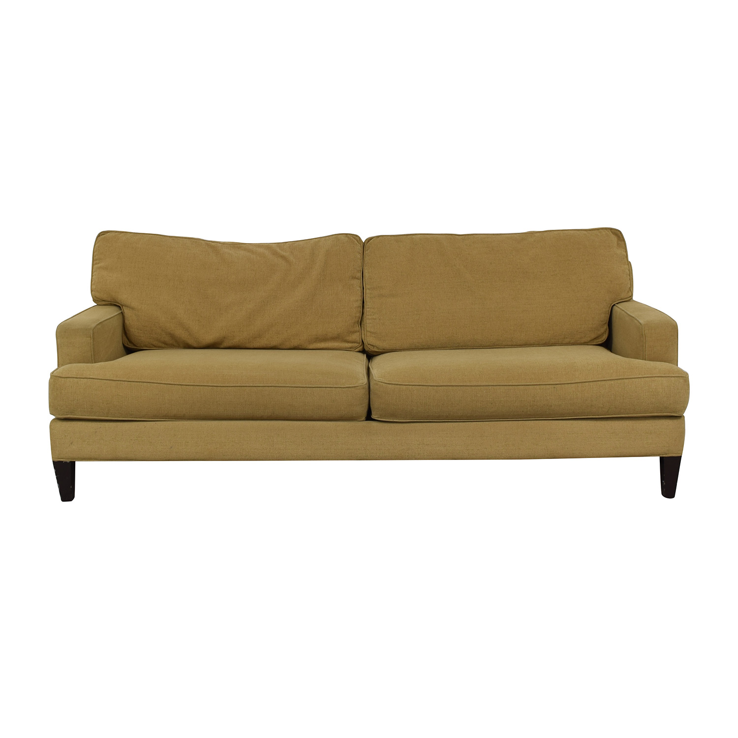 Pottery Barn Tan Two-Cushion Couch Pottery Barn