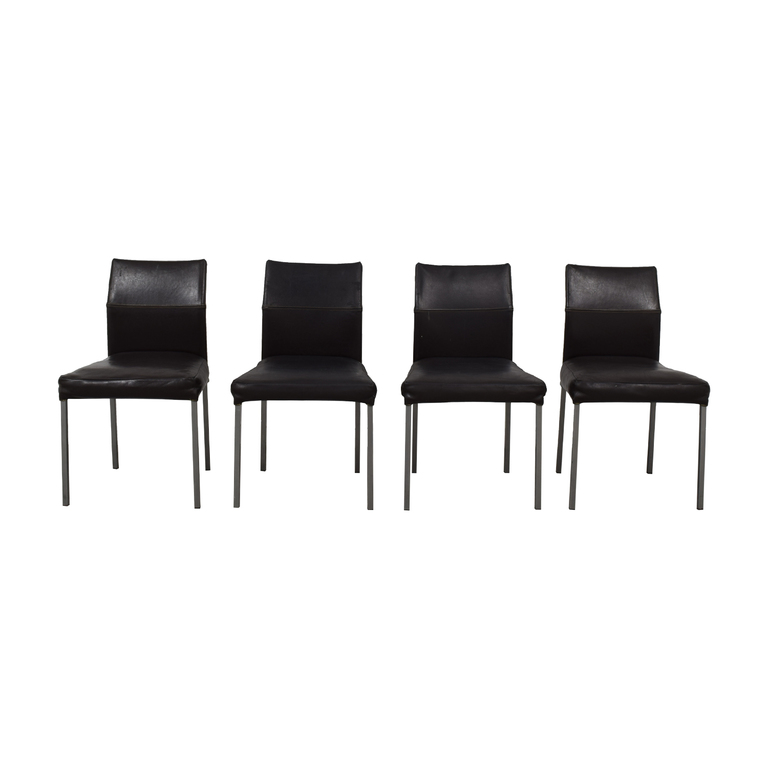 Design Within Reach KFF Leather Dining Chairs Design Within Reach
