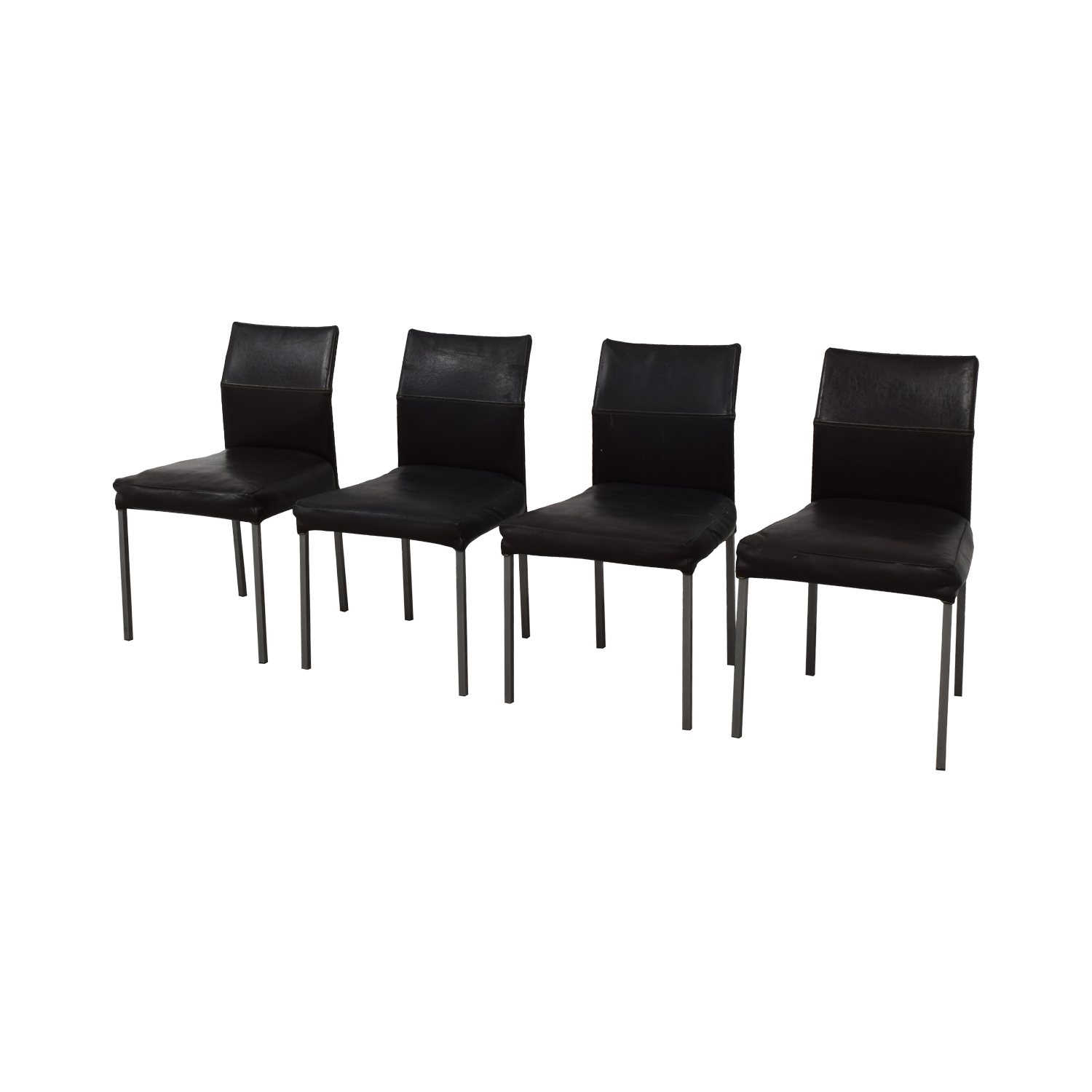 Design Within Reach Design Within Reach KFF Leather Dining Chairs
