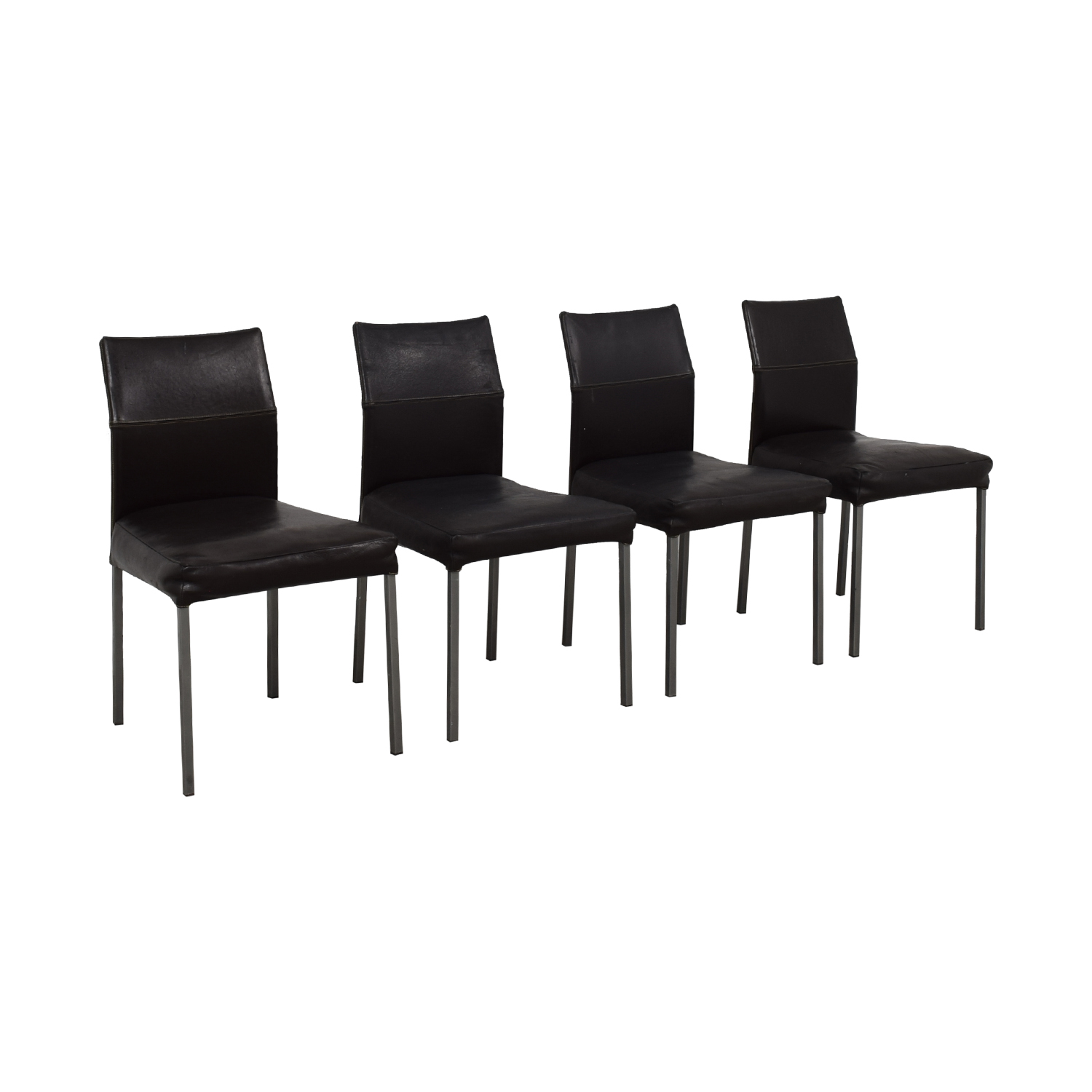 shop Design Within Reach Design Within Reach KFF Leather Dining Chairs online