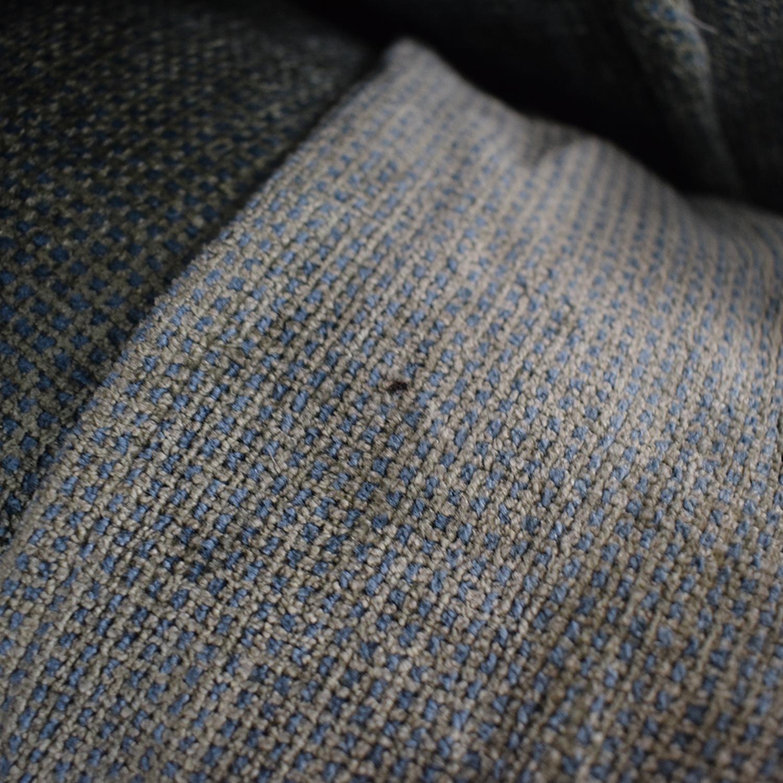 Classic Sofa NYC Classic Sofa NYC Grey Blue Oxford Armchair dimensions