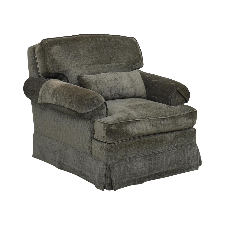 Classic Sofa NYC Classic Sofa NYC Grey Blue Oxford Armchair Dark Gray