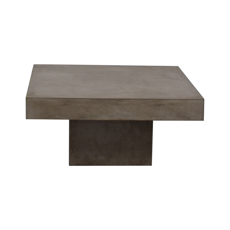 shop CB2 Element Cement Coffee Table CB2