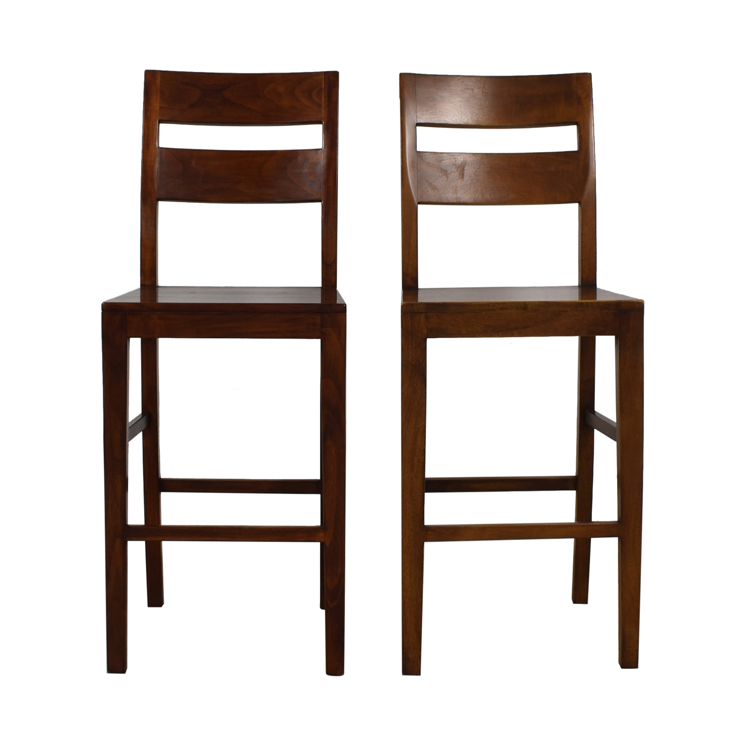 Crate & Barrel Crate & Barrel Counter Breakfast Bar Stools brown
