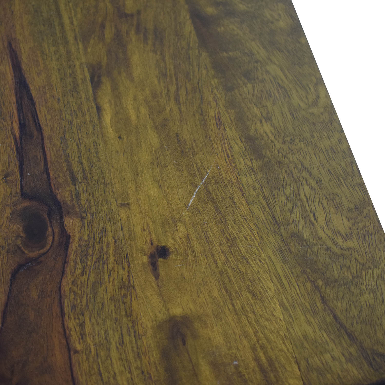 Crate & Barrel Wood Table with Two Benches / Dining Sets