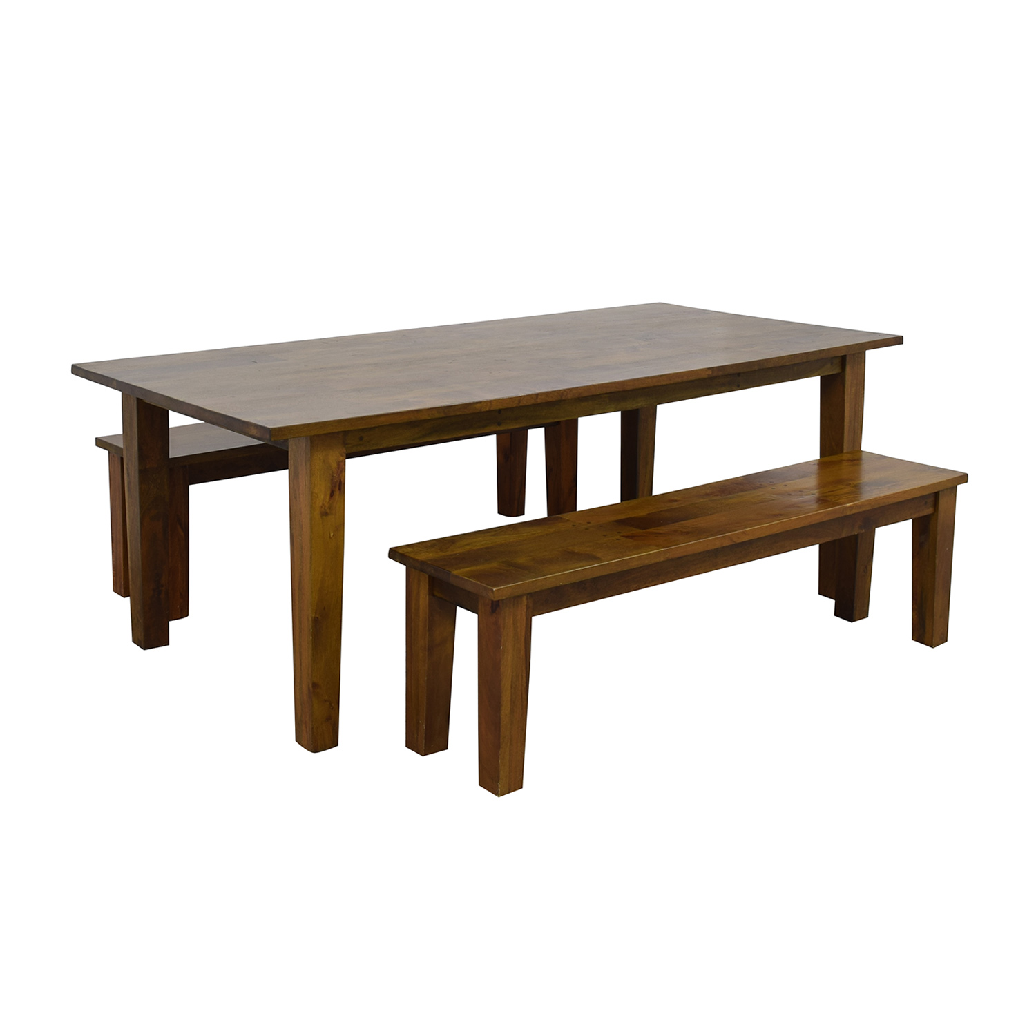 Crate & Barrel Crate & Barrel Wood Table with Two Benches second hand