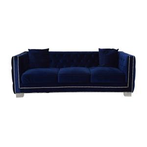 shop Ashley Furniture Ashley Furniture Blue Nailhead Three-Cushion Sofa online