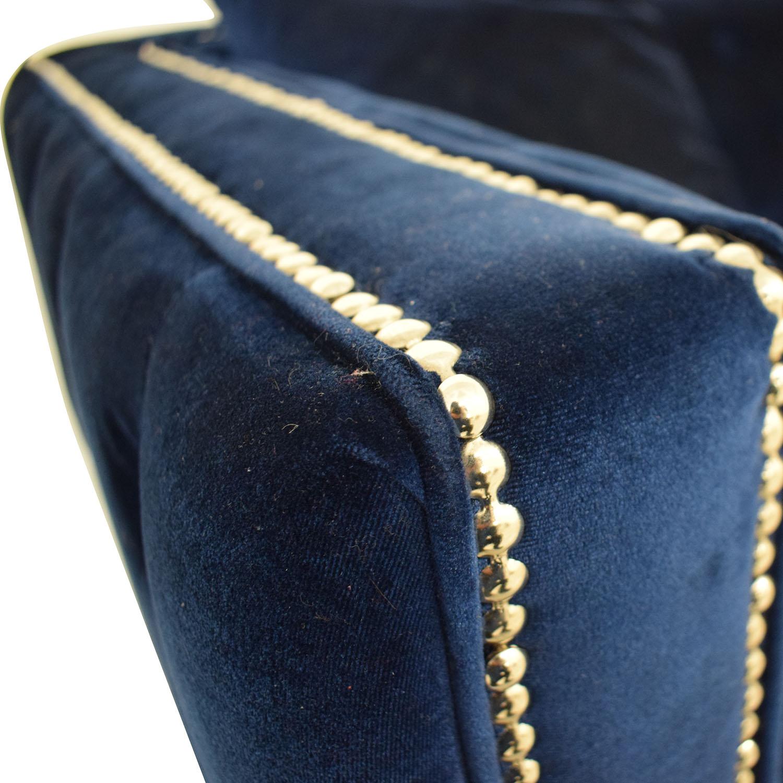 Ashley Furniture Blue Nailhead Three-Cushion Sofa / Classic Sofas