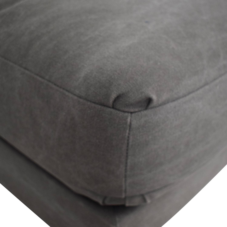 West Elm West Elm Grey Single Cushion Armless Couch dimensions