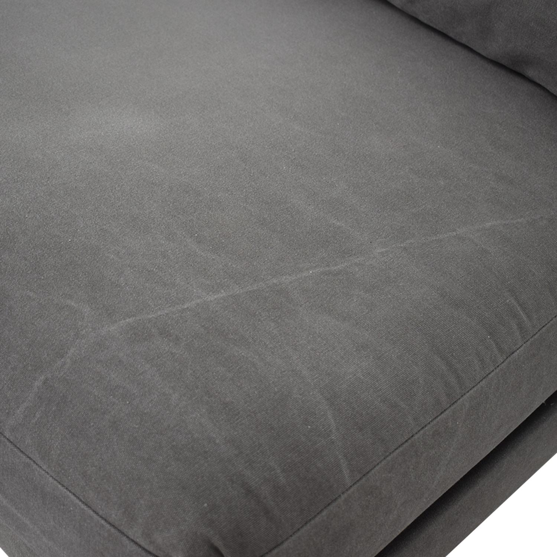shop West Elm Grey Single Cushion Armless Couch West Elm Sofas